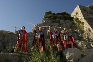 soldiers with spear