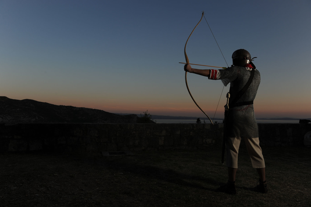 Archer in a sunset