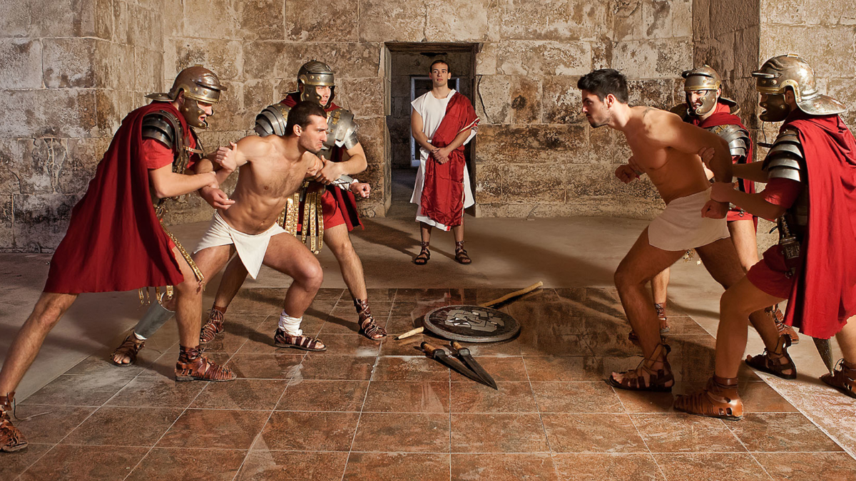 Gladiators fighting for the audience