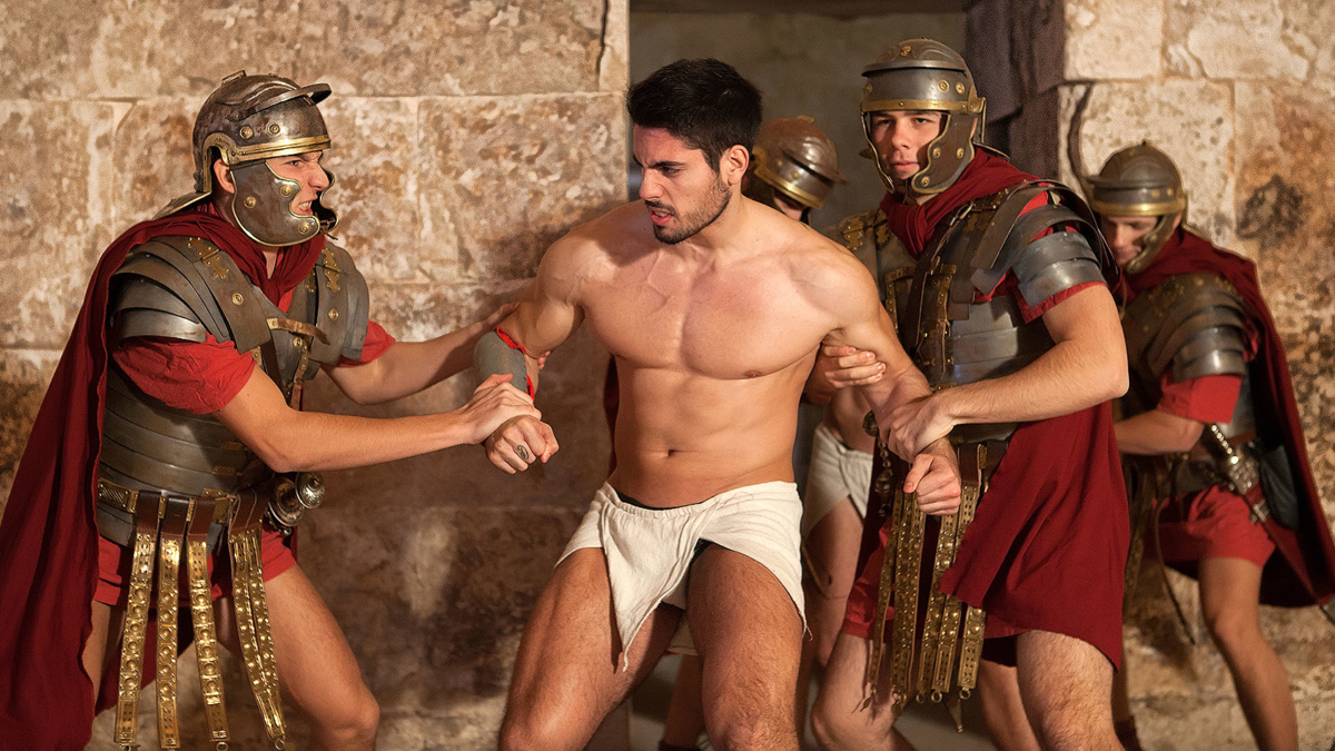 Roman gladiator resisting captivity